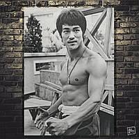 Постер Брюс Ли, Bruce Lee, ретрофото. Размер 60x43см (A2). Глянцевая бумага