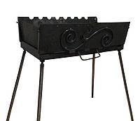 Мангал-чемодан на 8 шампуров, 2 мм