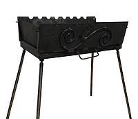 Мангал-чемодан на 10 шампуров, 2 мм