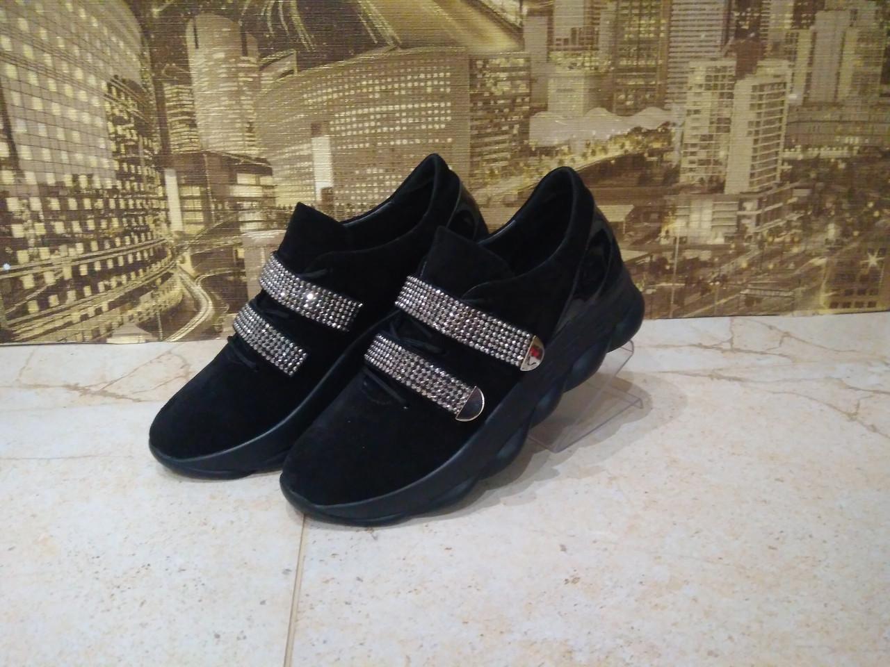 dd928583c Женские кроссовки кожаные модные 36-40 черный: продажа, цена в ...