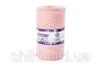 Трикотажный плоский шнур Ribbon Glitter, цвет Персиковый