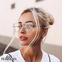 Имиджевые Очки Почти Круглые от Teashades - Dior Versace Chanel Bershka Zara H&M Mango M&S