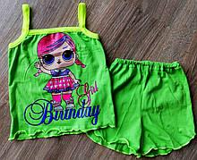 Детская летняя пижама из кулира ЛОЛ LOL