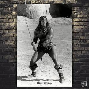 Постер Арнольд Шварценеггер в образе Конана Варвара. Размер 60x43см (A2). Глянцевая бумага