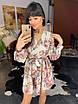 Легкое шифоновое платье с цветочным узором на подкладке, фото 4