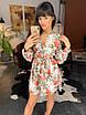 Легкое шифоновое платье с цветочным узором на подкладке, фото 5