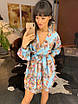 Легкое шифоновое платье с цветочным узором на подкладке, фото 2
