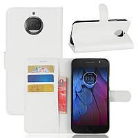 Чехол-книжка Litchie Wallet для Motorola Moto G5s Plus XT1805 Белый