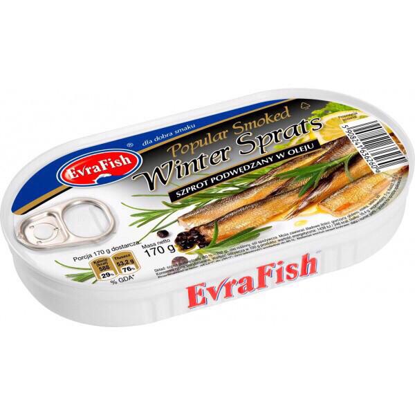 Шпроты в масле Szprots Winter Evra Fish  Польша 170г