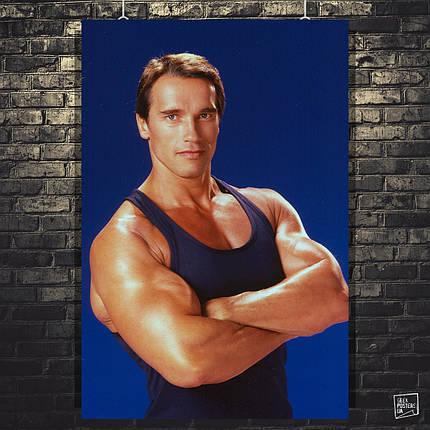 Постер Арнольд Шварценеггер в молодости. Размер 60x42см (A2). Глянцевая бумага, фото 2