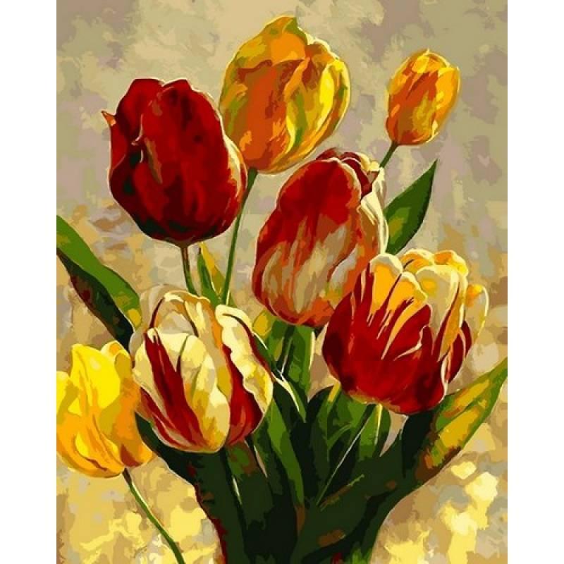 Картина по номерам Тюльпаны, 40x50 см., Mariposa