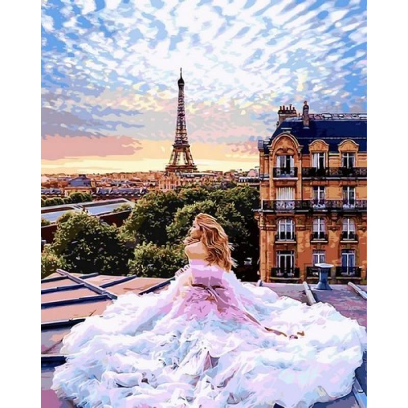 Картина по номерам Утро в Париже. Вера, 40x50 см., Babylon