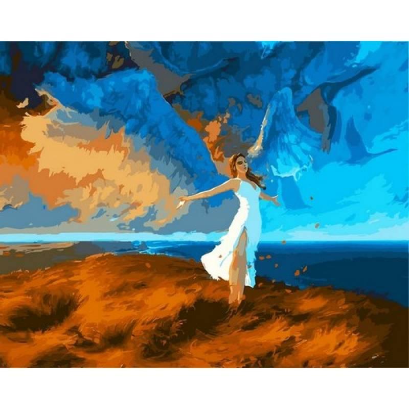 Картина по номерам Учиться летать, 40x50 см., Babylon