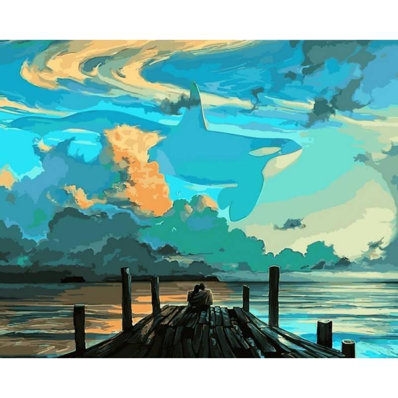 Картина по номерам Небо для мечтателей, 40x50 см., Babylon