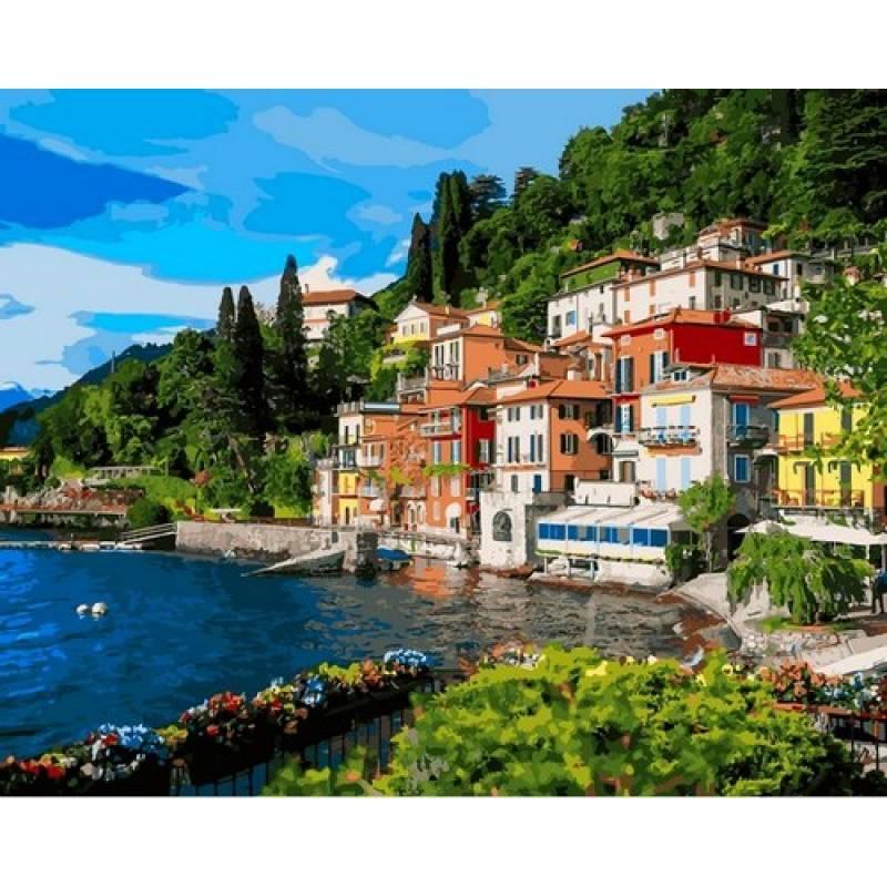 Картина по номерам Озеро Комо. Италия, 40x50 см., Babylon