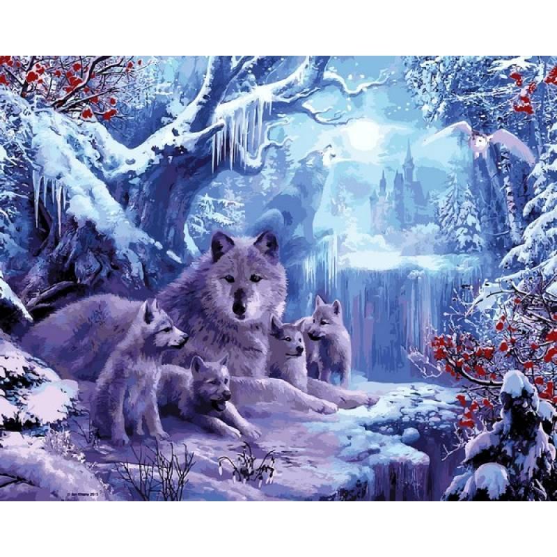 Картина по номерам Волчья зима, 40x50 см., Babylon
