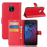 Чехол-книжка Litchie Wallet для Motorola Moto G5s Красный