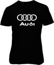 Наклейка на ткань Audi (цена за размер 17х20 см)