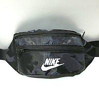 Спортивная сумка на пояс пол джинс на 2отд. Nike (черный)11*30см