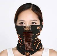 Баф - маска на лицо с отверстиями для ушей