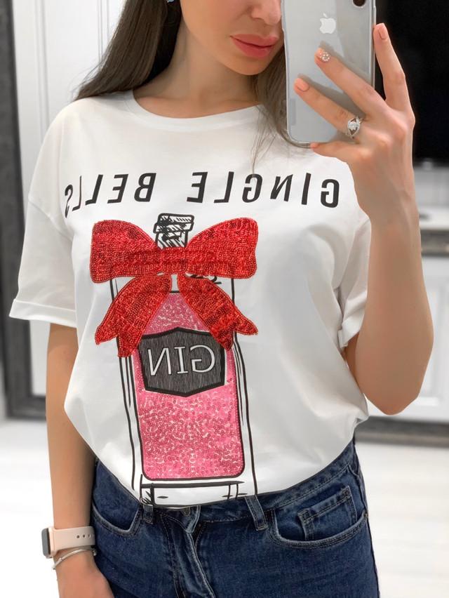 Женская яркая футболка