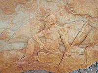 """Картина на камне """"Казак в поле"""", фото 1"""