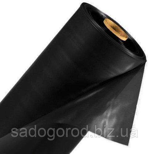 Пленка полиэтиленовая черная строительная 3 м х 100 м, рукав 1.5 м, толщина 120 мк, вес рулона 30 кг