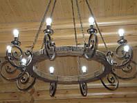 Кованая люстра на цепях, фото 1