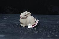 Заяц керамический серый маленький, фото 1