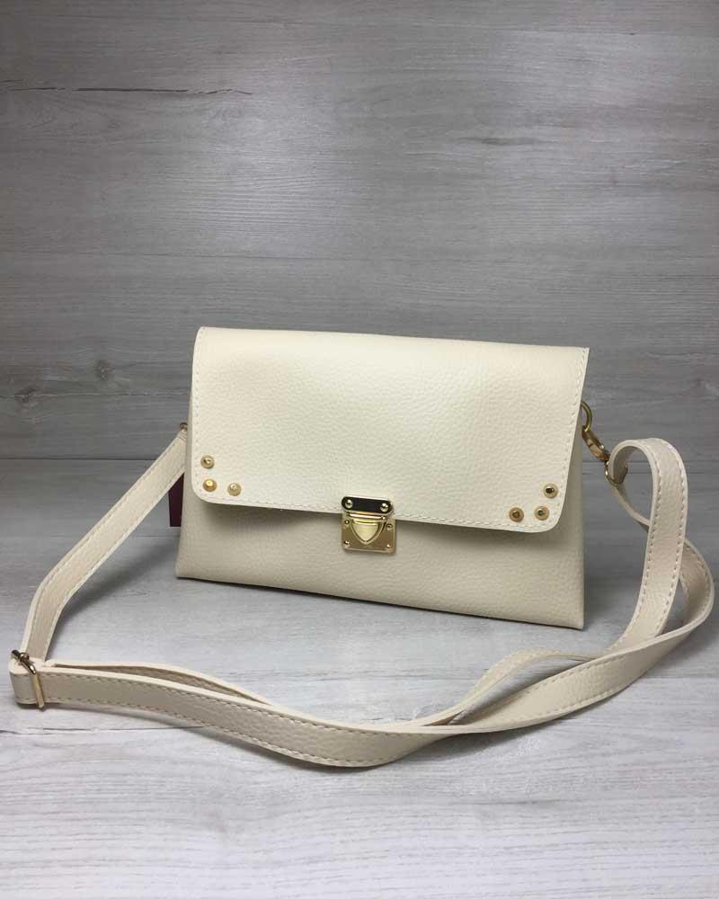 a4b4b980018b Женская сумка- клатч Келли бежевого цвета, цена 398 грн., купить в ...