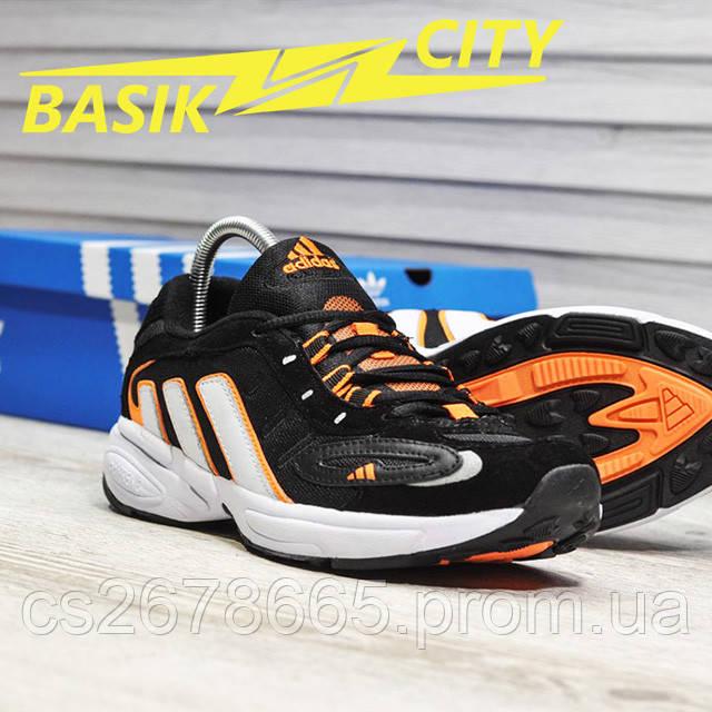 Мужские кроссовки Adidas Galaxy K Black Orange картинка