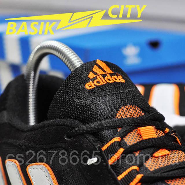 Мужские кроссовки Adidas Galaxy K Black Orange изображение описания