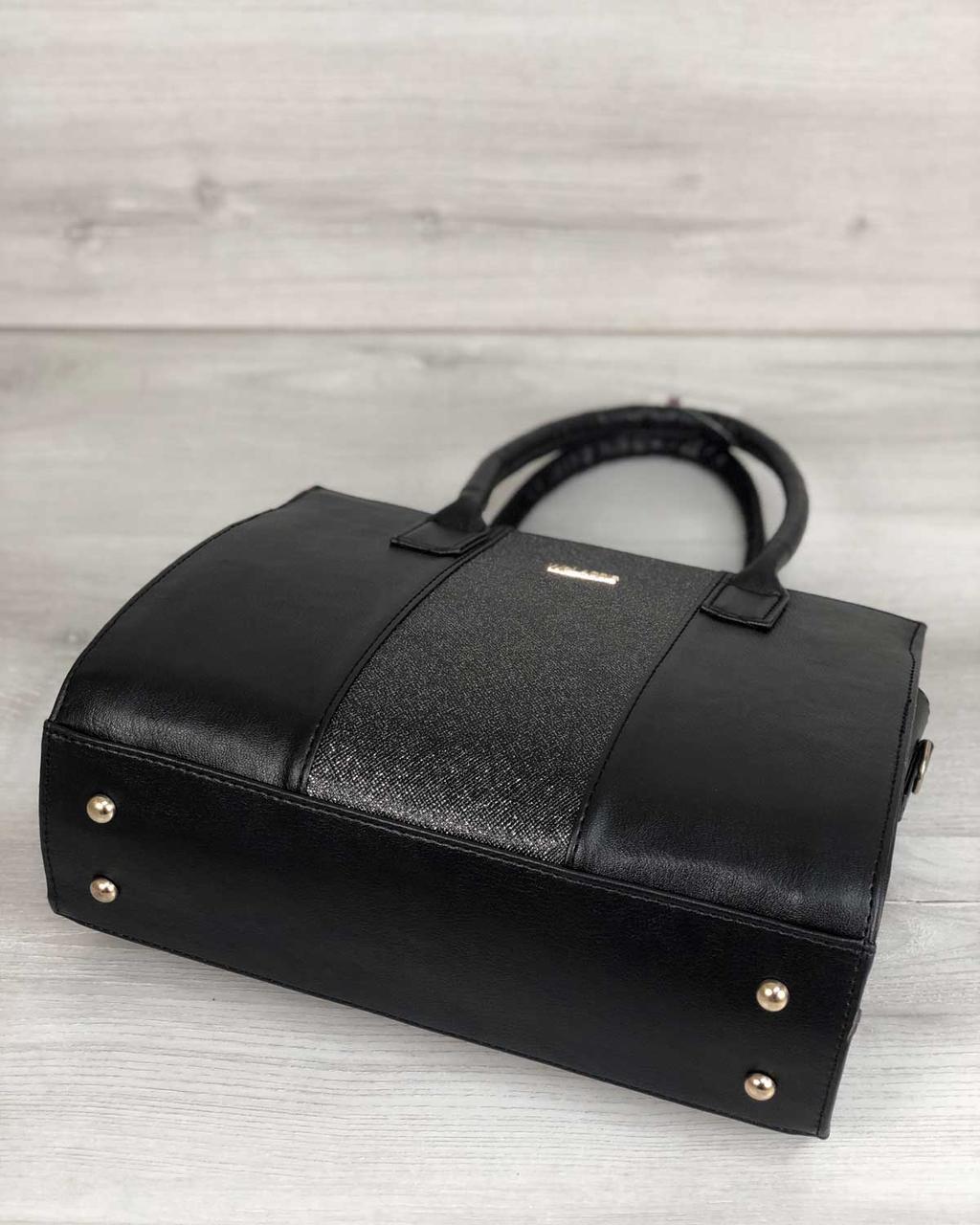 5aa3b9b309c6 Каркасная женская сумка Селин черного цвета со вставкой блеск - Ваш выбор в  Одессе