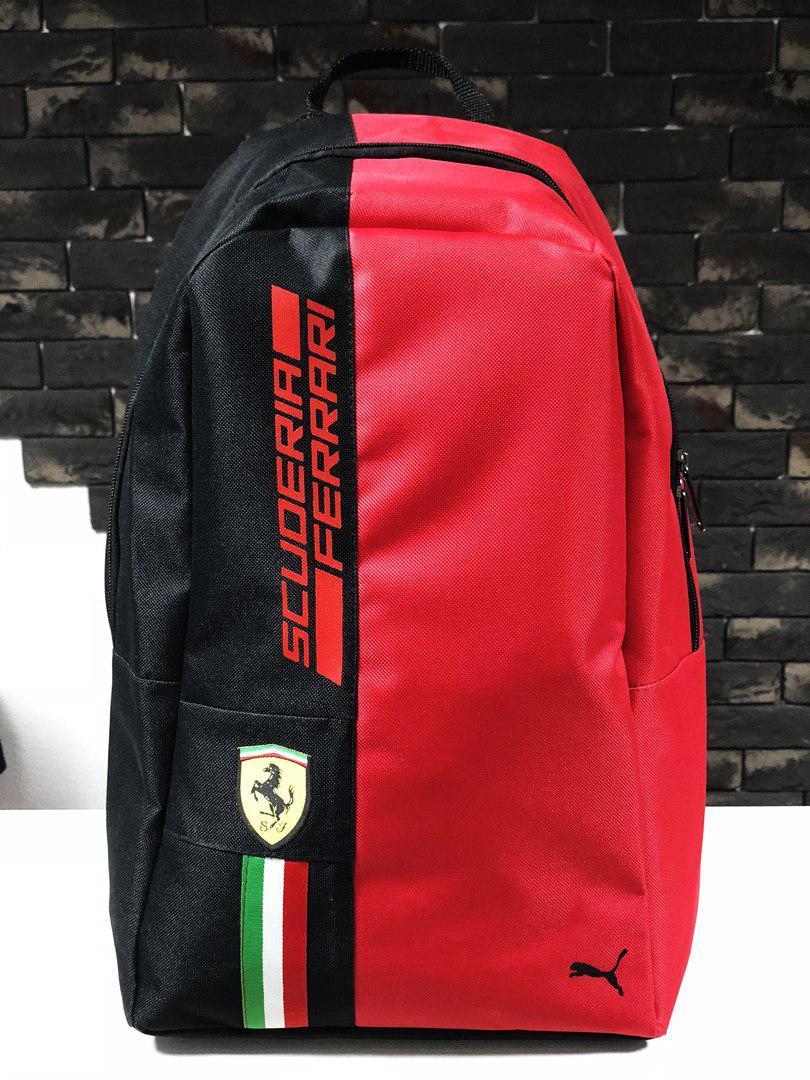 1f85680dd8ee Рюкзак городской Puma Ferrari Scuderia Пума Феррари красно-черный (реплика)