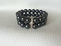 Женский черный браслет из натуральных камней из гематита BD1701