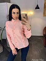 Рубашка женская нежная с кружевом и оборками Bl314, фото 1