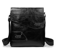 Мужская сумка - планшетка с надписью Jeep. Черная