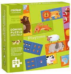 """Домино-пазл """"Зоопарк"""" MiDeer Toys"""
