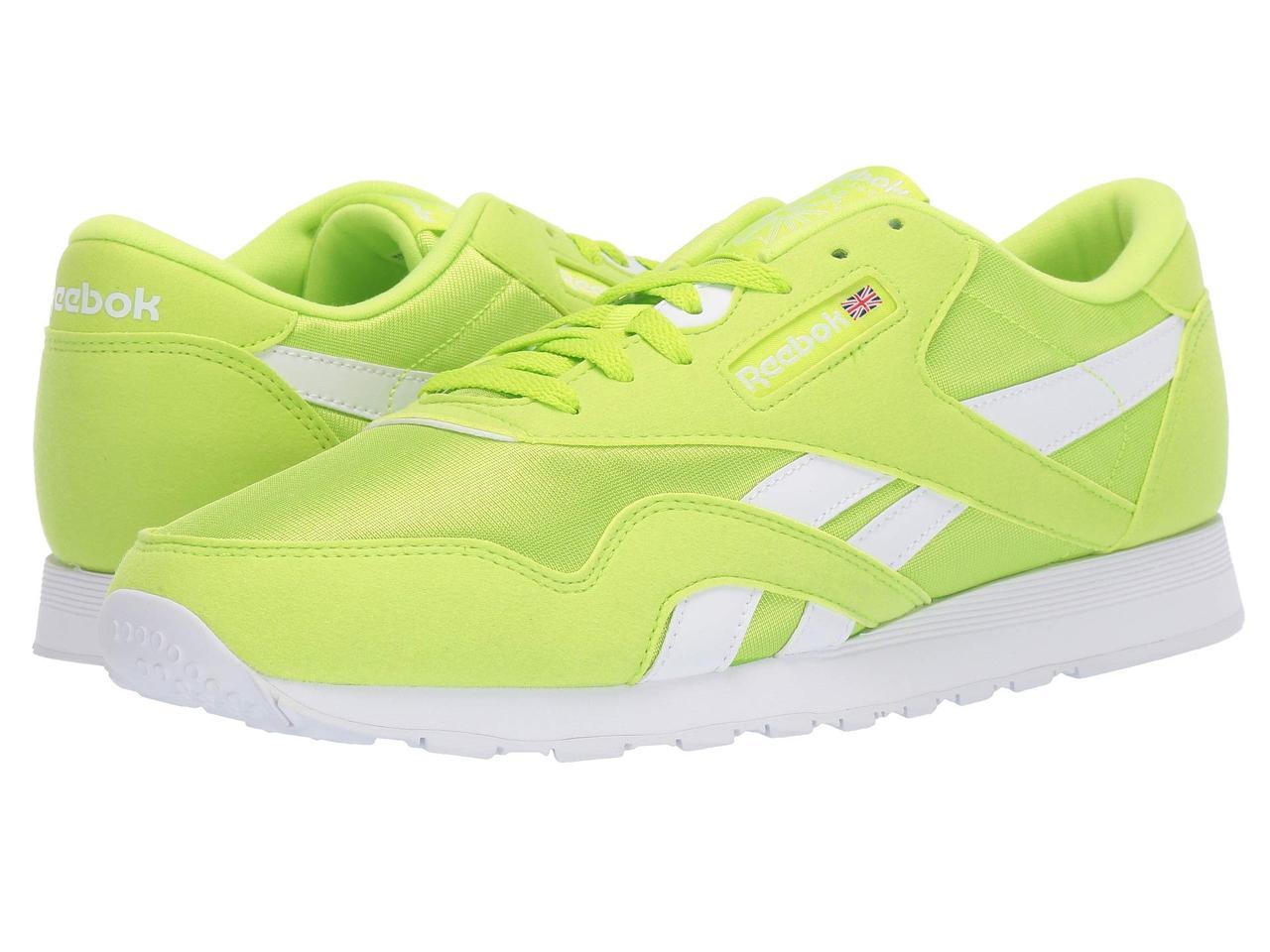 6ddbcbf0c1c0 Кроссовки/Кеды (Оригинал) Reebok Lifestyle Classic Nylon Color Neon Lime/ White -