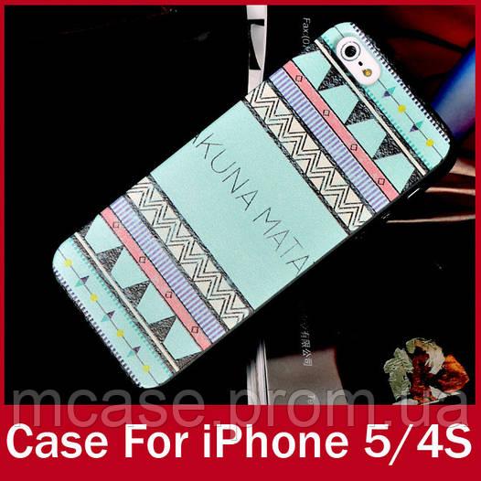 Пластиковый чехол AZTEC для iPhone 4, 4s