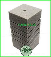 Фильтрующая губка 10х10х20 квадрат с прорезями, №1