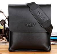 Стильная мужская сумка Polo. Цвет черный