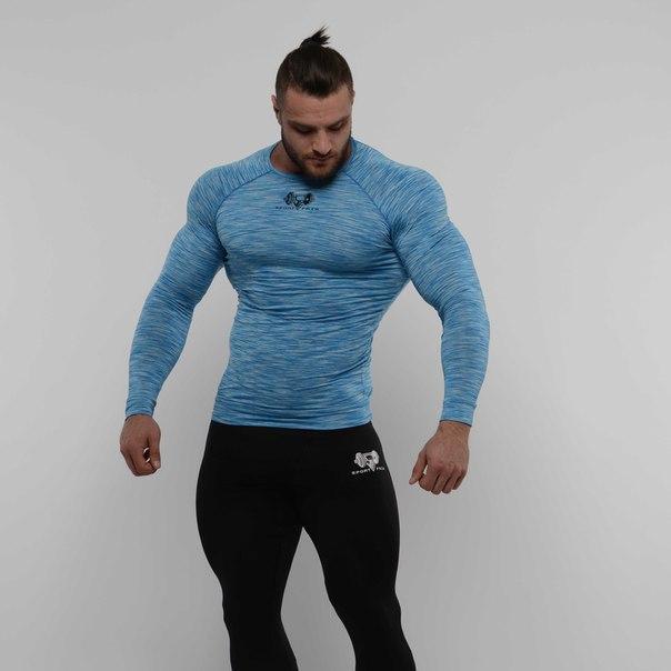 Компрec лонгслив SportFaza Premium Blue спорт фааза премиум L
