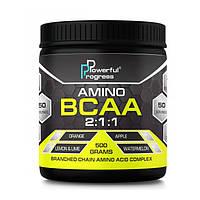 БЦАА Powerful Progress Amino BCAA 2:1:1 (500 г) паверфул амино бцаа