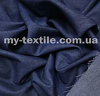 Джинс ткань тонкий Темно-синий