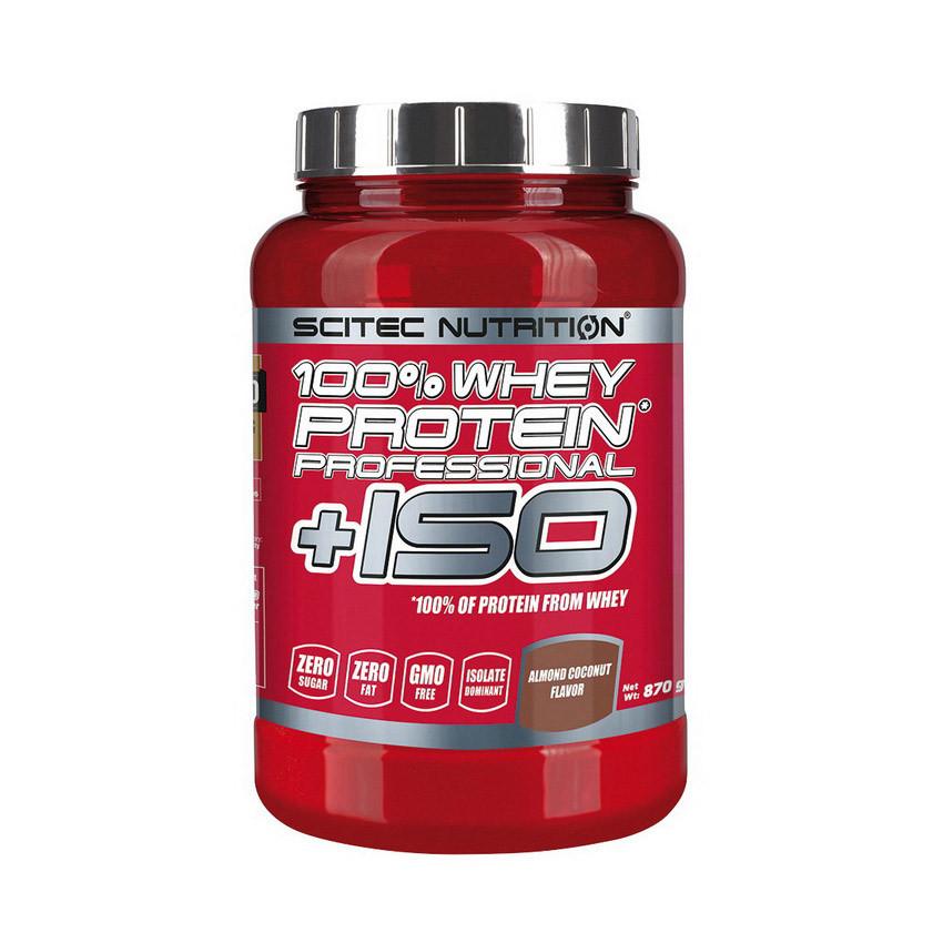 Сывороточный протеин изолят  Scitec Nutrition 100% Whey Protein Professional +ISO (870 г) скайтек strawberry-white chocolate