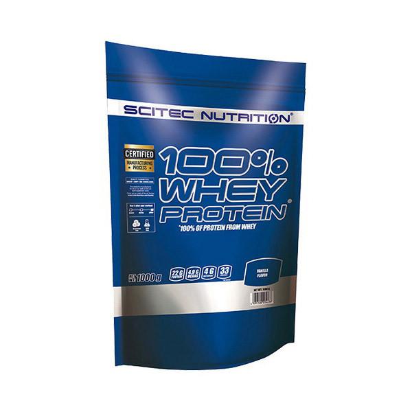 Сывороточный протеин концентрат Scitec Nutrition 100% Whey Protein (1 кг) скайтек вей milk chocolate