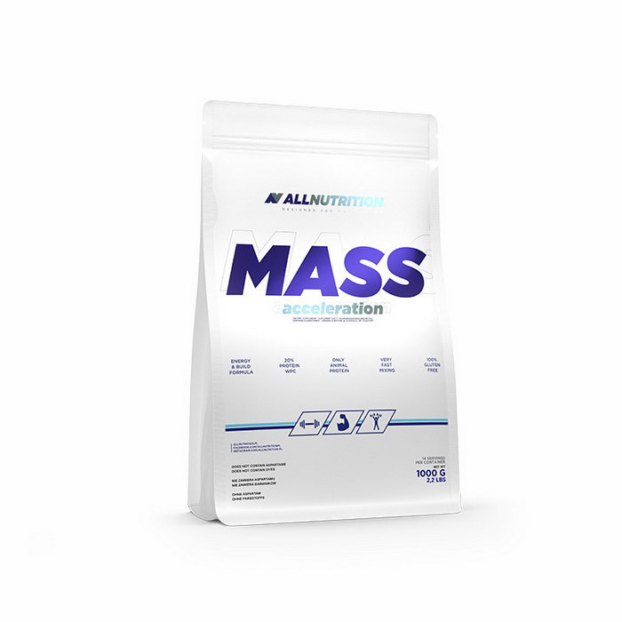 Гейнер для набора массы AllNutrition Mass Acceleration (1 кг) алл нутришн chocolate-walnut