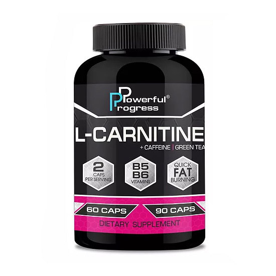 Л-карнитин Powerful Progress  L-Carnitine (60 капс) паверфул прогресс