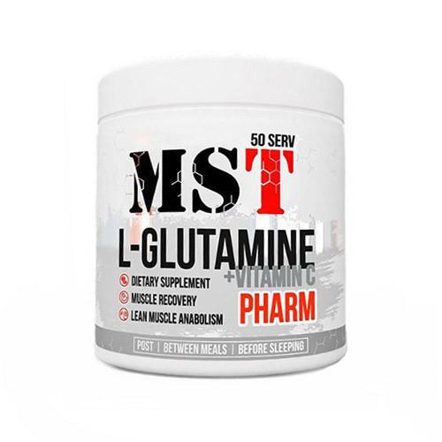 Глютамин MST Sport Nutrition L-Glutamine Pharm + Vitamin C Unflavored (260 г) мст unflavored
